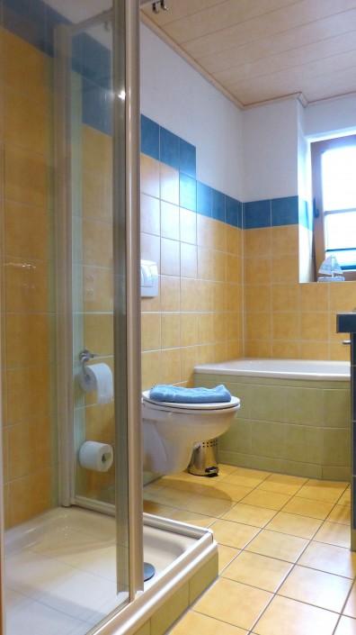 Dusche Wanne und WC